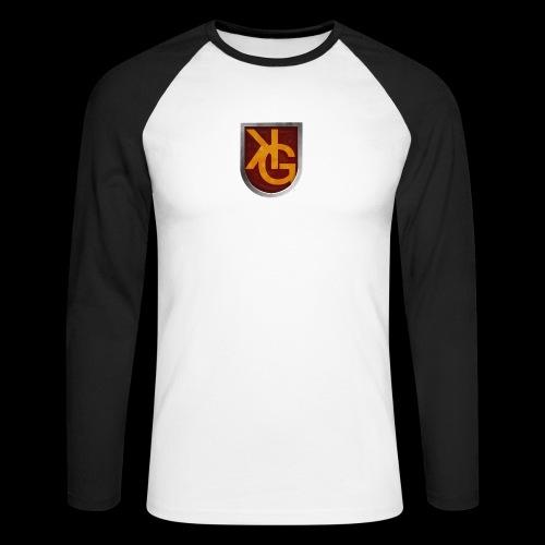 KG logo - Miesten pitkähihainen baseballpaita