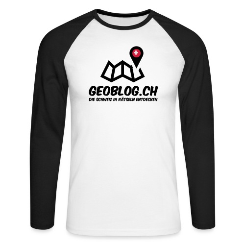 Logo+Schriftzug-hoch - Männer Baseballshirt langarm