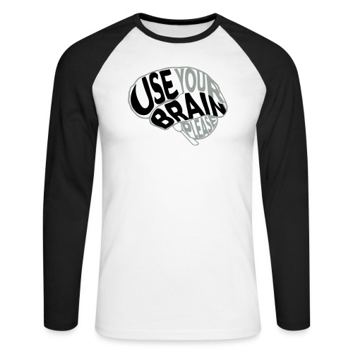 Use your brain - Maglia da baseball a manica lunga da uomo