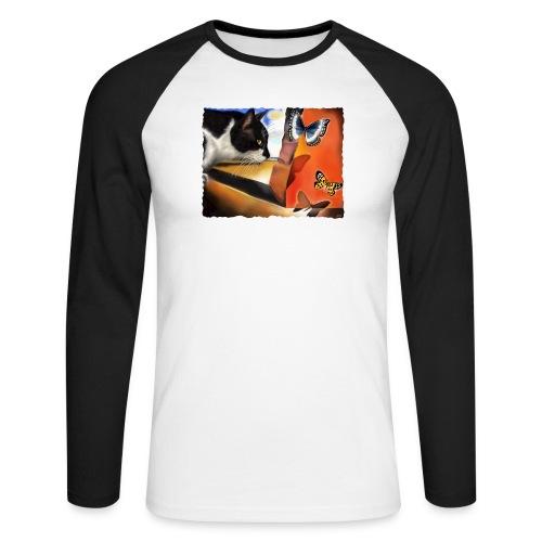 Il gatto di Dalí - Maglia da baseball a manica lunga da uomo