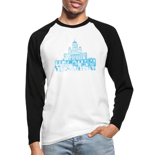 Helsinki Cathedral - Men's Long Sleeve Baseball T-Shirt