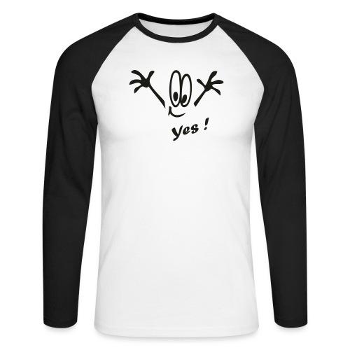 Yes ! Comic - Männer Baseballshirt langarm