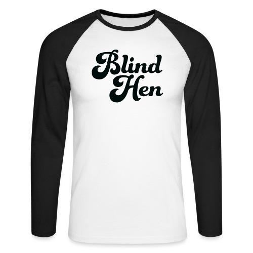 Blind Hen - Logo T-shirt premium, green. - Men's Long Sleeve Baseball T-Shirt