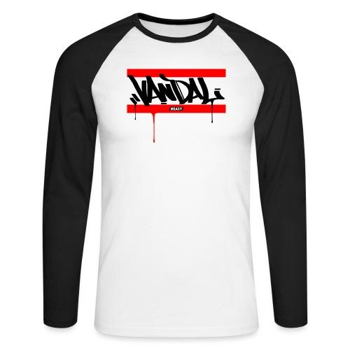 #EASY Graffiti Vandal T-Shirt - Maglia da baseball a manica lunga da uomo