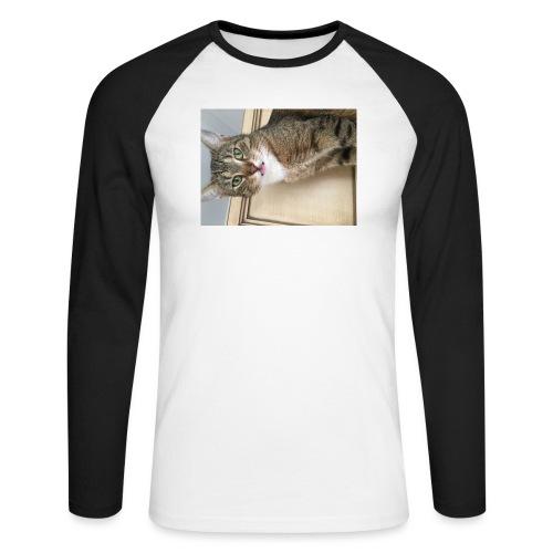 Kotek - Koszulka męska bejsbolowa z długim rękawem
