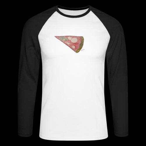BY TAiTO Pizza Slice - Miesten pitkähihainen baseballpaita