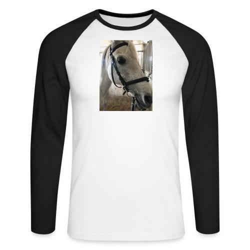 9AF36D46 95C1 4E6C 8DAC 5943A5A0879D - Langermet baseball-skjorte for menn