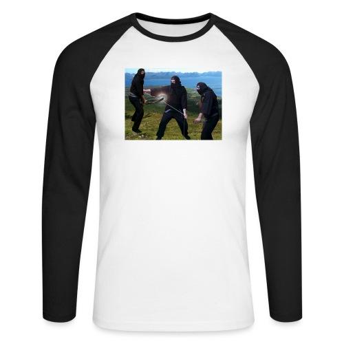 Chasvag ninja - Langermet baseball-skjorte for menn