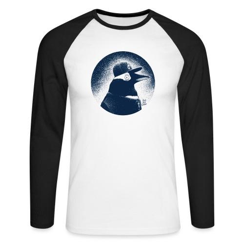 Pinguin dressed in black - Men's Long Sleeve Baseball T-Shirt