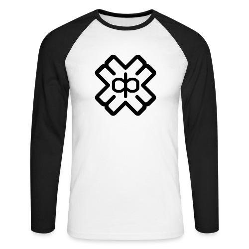 d3ep logo black png - Men's Long Sleeve Baseball T-Shirt
