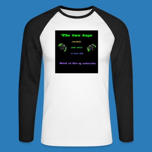 LUISJAKUBINTRO-jpg - Langærmet herre-baseballshirt