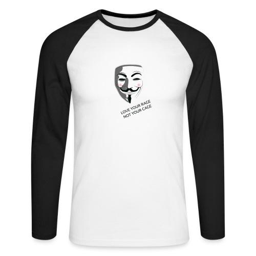 Anonymous Love Your Rage - Men's Long Sleeve Baseball T-Shirt