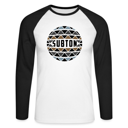wereldbol_subton2-jpg - Men's Long Sleeve Baseball T-Shirt