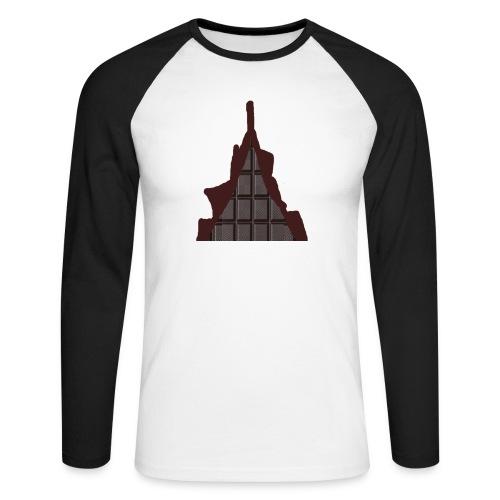 Vraiment, tablette de chocolat ! - T-shirt baseball manches longues Homme