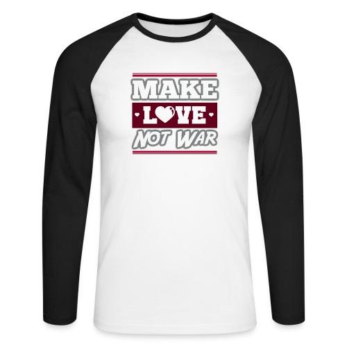 Make_love_not_war by Lattapon - Langærmet herre-baseballshirt