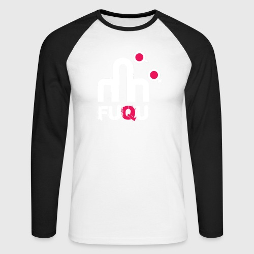 T-shirt FUQU logo colore bianco - Maglia da baseball a manica lunga da uomo