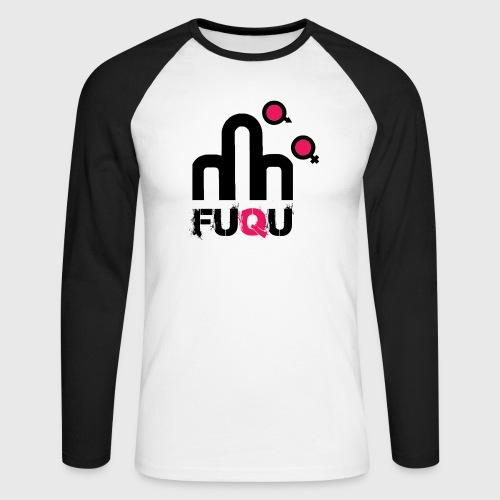 T-shirt FUQU logo colore nero - Maglia da baseball a manica lunga da uomo