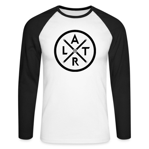 Wheel Hoodie White - Koszulka męska bejsbolowa z długim rękawem
