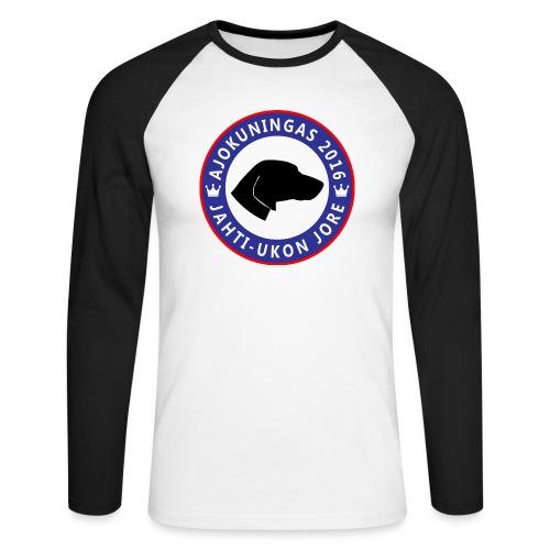 Ajokuningas t-paita - Miesten pitkähihainen baseballpaita