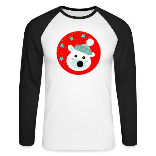 Winter bear - Men's Long Sleeve Baseball T-Shirt