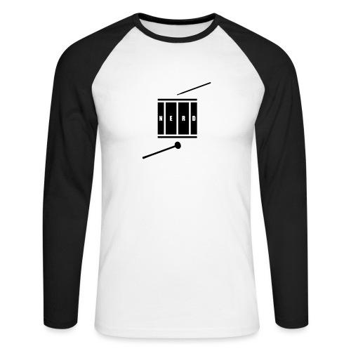 Nerd_Logo Black - Langærmet herre-baseballshirt