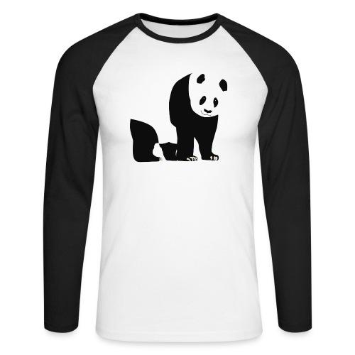 Panda - Miesten pitkähihainen baseballpaita