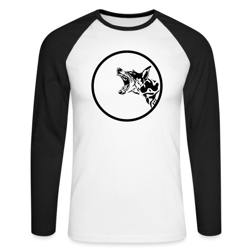 dog in a circle frame - T-shirt baseball manches longues Homme