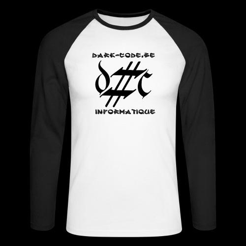Dark-Code Black Gothic Logo - T-shirt baseball manches longues Homme