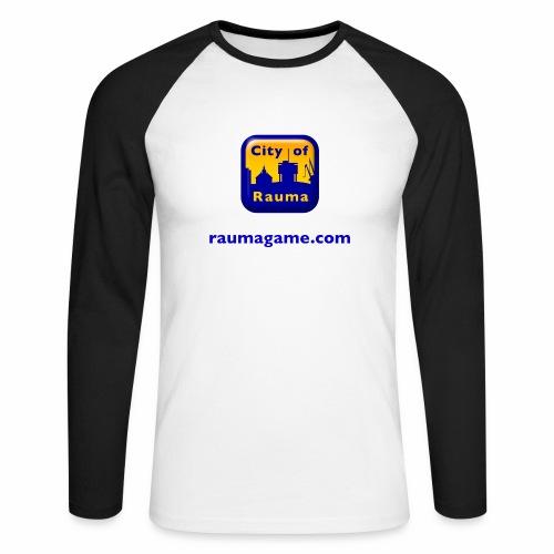 Raumagame logo - Miesten pitkähihainen baseballpaita