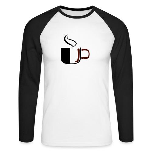 JU Kahvikuppi logo - Miesten pitkähihainen baseballpaita