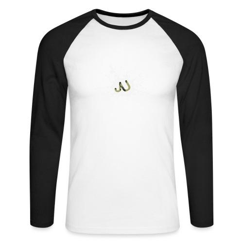logo2 6 pinkki - Miesten pitkähihainen baseballpaita