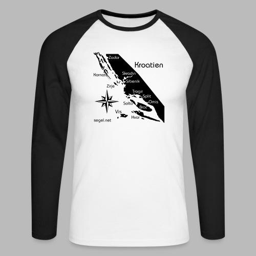 Crewshirt Urlaub Motiv Kroatien - Männer Baseballshirt langarm