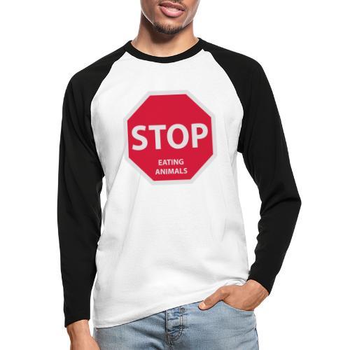 Stop-Eating-Animals - Männer Baseballshirt langarm