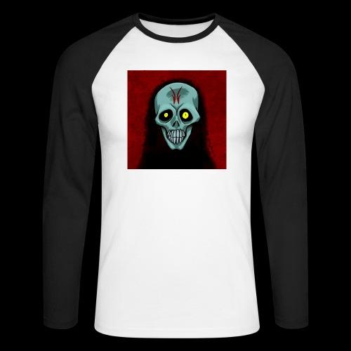 Ghost skull - Men's Long Sleeve Baseball T-Shirt