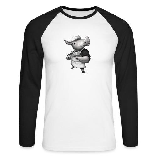 Pig Butcher - Männer Baseballshirt langarm