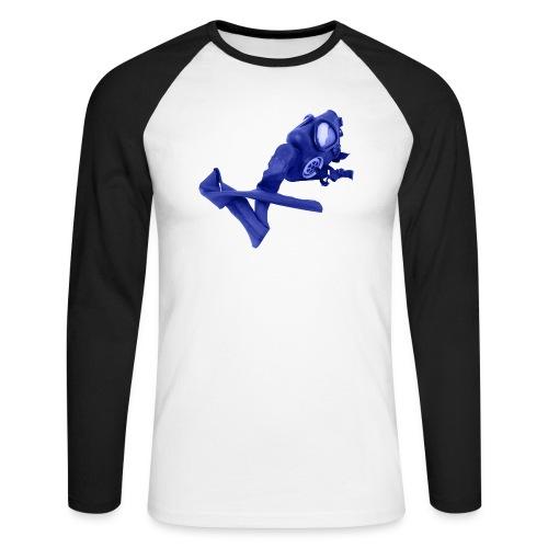gas mask - Men's Long Sleeve Baseball T-Shirt