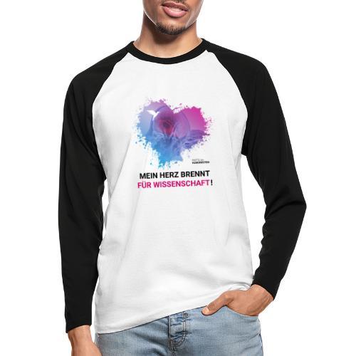 Mein Herz brennt für Wissenschaft! - Männer Baseballshirt langarm