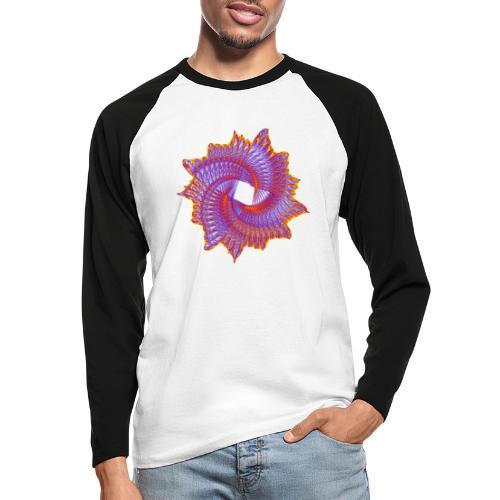 Spiral fan ammonite prehistoric animal fossil 11912bry - Men's Long Sleeve Baseball T-Shirt