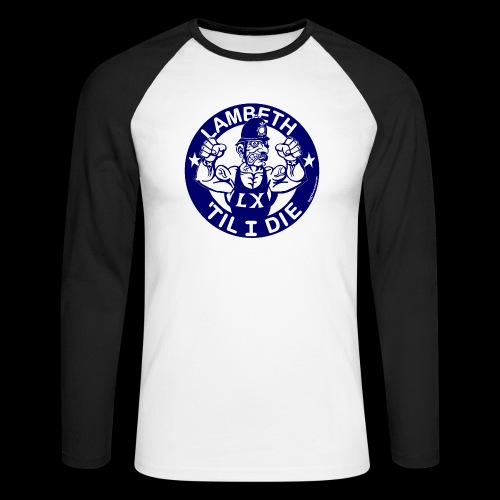 LAMBETH - NAVY BLUE - Men's Long Sleeve Baseball T-Shirt