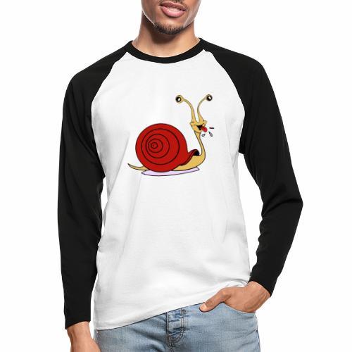 Escargot rigolo red version - T-shirt baseball manches longues Homme