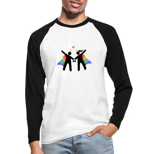 LGBT BI - Langærmet herre-baseballshirt