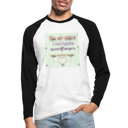 En tanke - Langærmet herre-baseballshirt