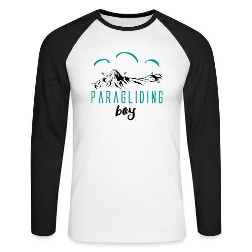 Paragliding boy - Männer Baseballshirt langarm
