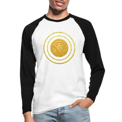Glückssymbol Sonne - positive Schwingung - Spirale - Männer Baseballshirt langarm