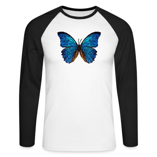 PAPILLON - LOW POLY (Outline) - T-shirt baseball manches longues Homme