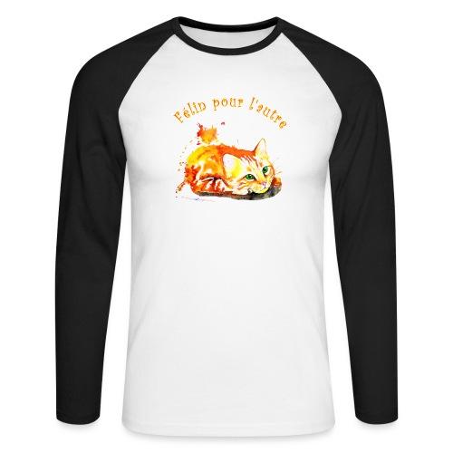 Chat roux,Félin pour l'autre - T-shirt baseball manches longues Homme
