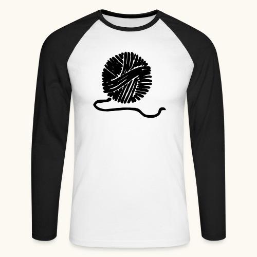 Farbe anpassbar Wollknäuel Vektor Lustig Geschenk - T-shirt baseball manches longues Homme