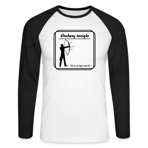 Archery tonight - Miesten pitkähihainen baseballpaita
