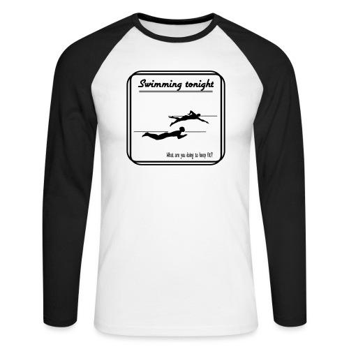 Swimming tonight - Miesten pitkähihainen baseballpaita