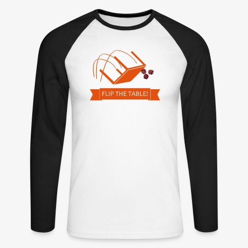 Flip the table! - Langermet baseball-skjorte for menn